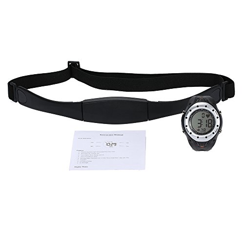 Professional Chest Belt +Watch Heart Rate Monitor Health Care Outdoor Cycling Sport Wireless Heart Rate Watch Exercise (Golf Belt Watch)