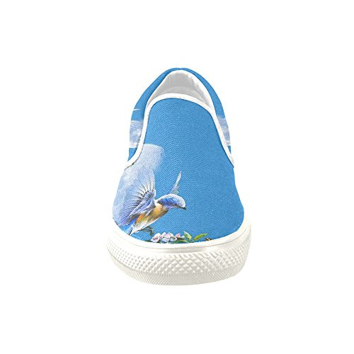 D-story Custom Sneaker Humming Bird Donne Insolite Scarpe Di Tela Slip-on