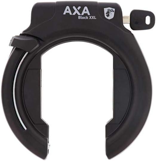 Axa Rahmenschloss Block Xxl Schwarz Amazon De Sport Freizeit