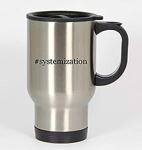 #systemization - Funny Hashtag 14oz Silver Travel Mug