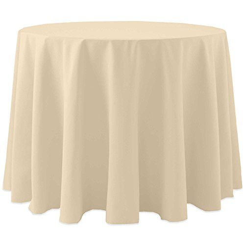 Ultimate Textile (10 Pack) Cotton-feel 72-Inch Round Tablecloth - for Wedding and Banquet, Hotel or Home Fine Dining use, Tan Beige by Ultimate Textile