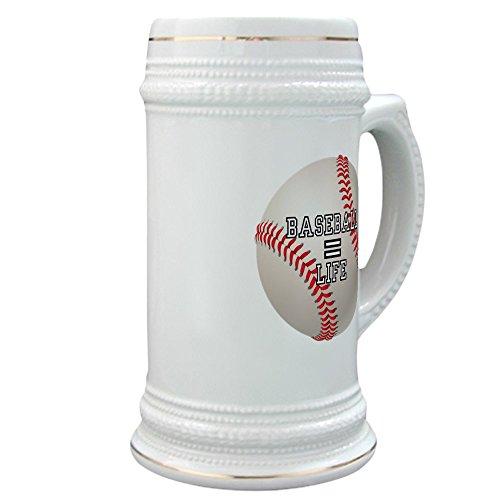 (Stein (Glass Drink Mug Cup) Baseball Equals Life)