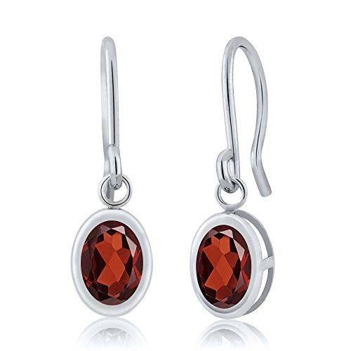 180-ct-oval-red-garnet-925-sterling-silver-french-wire-dangling-earrings