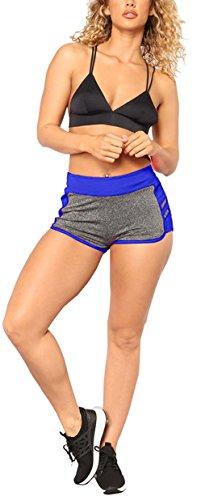 del Skinny Onlyoustyle Donne Yoga Sexy Reale Sportive Assorbimento Fitness Sudore Estivo da Blu Traspirante Pantaloncini Shorts tnYYqrFB