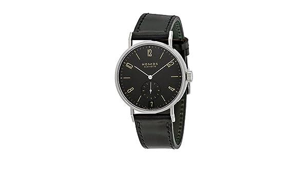 Amazon.com: Nomos Tangomat Ruthenium Datum Deep Black Dial Mens Watch 604: Watches