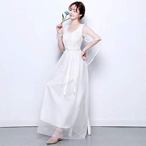 3ac0692ca4b75 Disponibles Demoiselle 5 Femme 4 Pour Bozevon D honneur Robes Styles Blanc Soirée  Robe Mariage De Longues Fête wfYwqOna