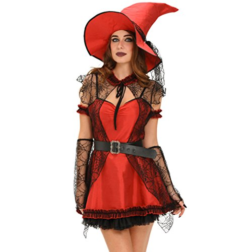 BYY 6pcs Mischievous Witch Halloween Costume(Size,L)