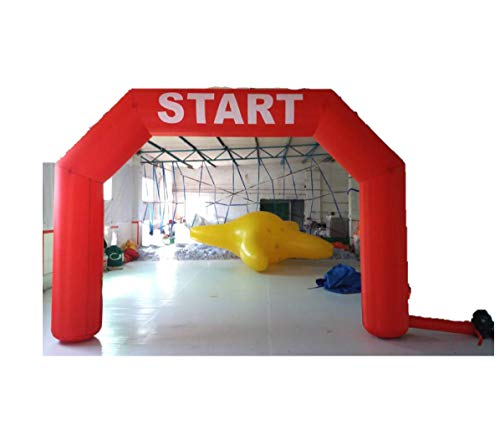 inflatable4less 15FT Hexagon Inflatable Arch Archway w/Fan Start Finish, No Customization (Red)