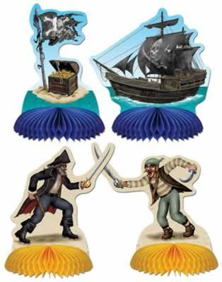 Pirate Playmates  Honeycomb Centerpieces