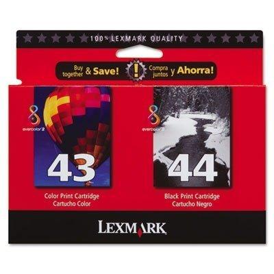 Lexmark 43XL/44XL (18Y0372) OEM Genuine Inkjet/Ink Cartridge ( Black 18Y0144 + Color 18Y0143)*1 - Retail