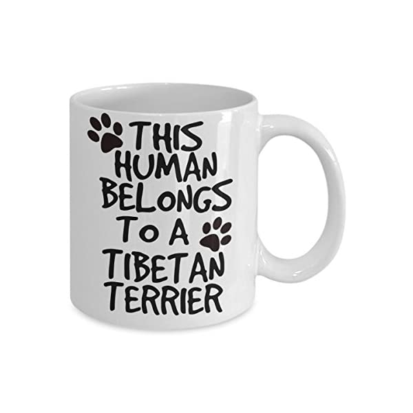 Tibetan Terrier Mug - White 11oz Ceramic Tea Coffee Cup - Perfect For Travel And Gifts 2