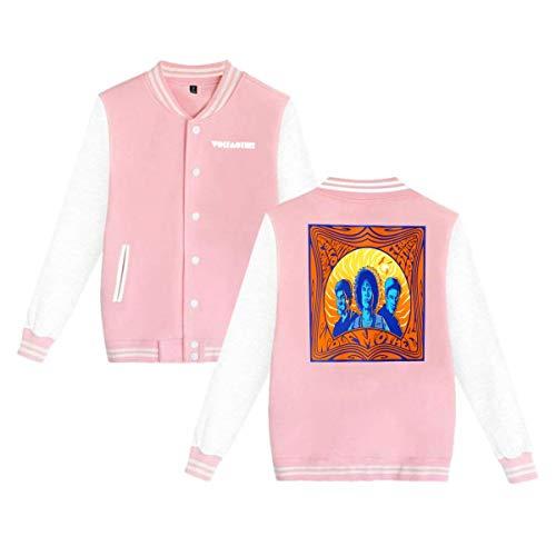 Baseball Uniform Jacket Sport Coat, Wolf-Mother Pyramid Cotton Sweater for Women Men Boy Girls Pink ()