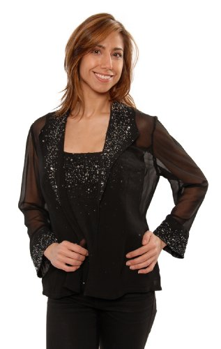 The Evening Store 2PC Cami and Jacket Hand Beaded (Small) by The Evening Store (Image #3)