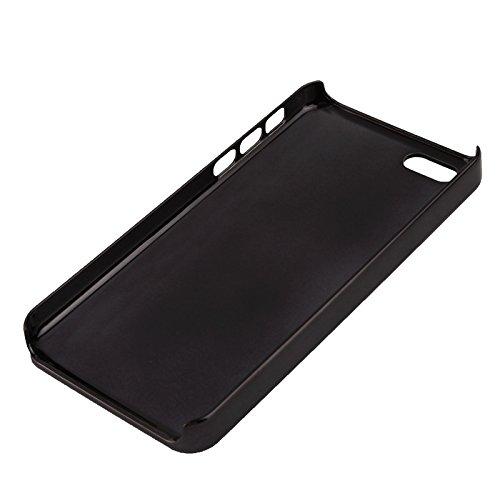 Protege tu iPhone, Revestimiento geométrico de la peladura del metal del modelo del triángulo que pela la caja plástica para el iPhone 5C Para el teléfono celular de Iphone. ( Color : Rosa ) Negro