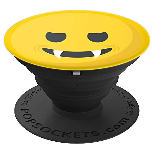 Smiley Face Funny Face Vampire Emoticon - PopSockets Grip and Stand for Phones and Tablets -