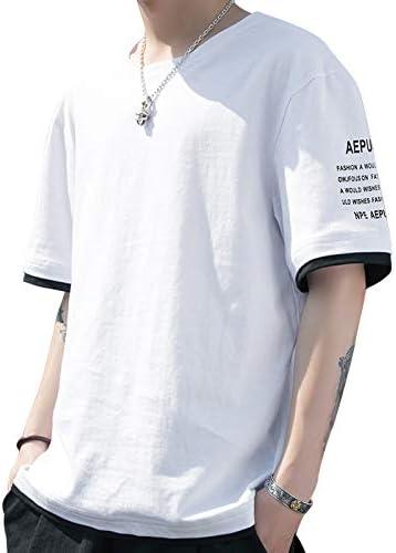Tシャツ メンズ 夏服 半袖人気メンズ服 五分袖 丸襟 無地Tシャツ 大きい サイズ ゆったり 柔らかい 快適吸汗 カジュアル おしゃれ メンズ服
