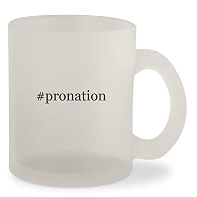 #pronation - Hashtag Frosted 10oz Glass Coffee Cup Mug