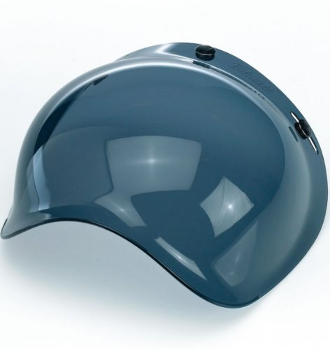 Mirror Smoke Helmet Shield - Biltwell Inc. Bubble Shield Smoke One Size