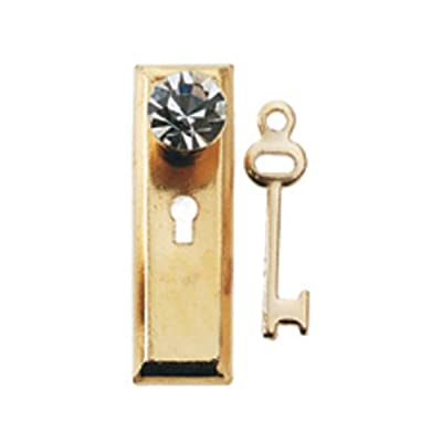 Dollhouse Miniature Crystal Classic Doorknob w/Key by Houseworks: Toys & Games