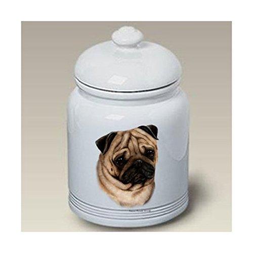 Best of Breed Pug (Fawn): Ceramic Treat Jar 10