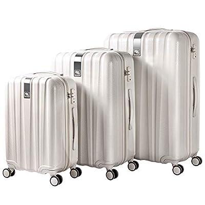Image of Hanke Luggage Sets 3 Piece Hardshell Luggage Lightweight Family Suitcase with TSA Lock Spinner Ivory white, 20 inch 24 inch 28 inch Luggage