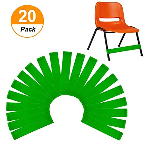 ( 20 count ) Natural Latex Stretch Foot Bands ,Workout ADHD ADD SPD Autism Sensory Needs & Stretch Foot Band for Chairs by Helps Improve Focus in the Classroom,Rehab or Physical Therapy