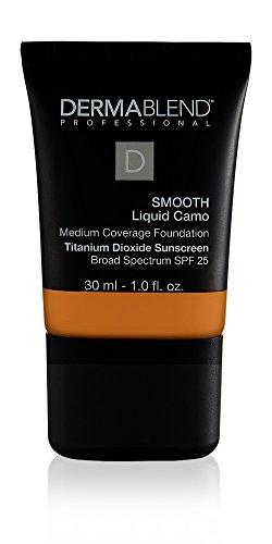 - Dermablend Smooth Liquid Camo Medium to High Coverage Foundation Makeup with SPF 25, 50c Honey Beige, 1 fl. oz.