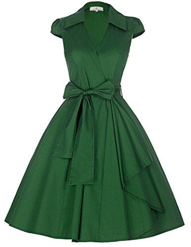 Fashion Vintage Womens Dresses Sleeve