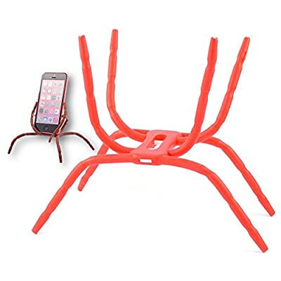 Aurora Universal Multi-function Spider Flexible Phone Car Holder hanging Mount and Stand for iPhone 6 plus/6/5/5S 4/4S and samsung Andriod Phones in Car Bicycle Desk Plane (Red)