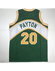 d29190db09f Unsigned Gary Payton Seattle Green Custom Stitched Basketball Jersey Size  Men's XL New No Brands/