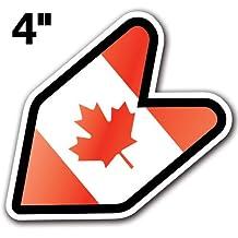 "[1] CANADA - [Adelia Co] 4"" Canadian Flag JDM Wakaba Shoshinsha Mark New Driver Badge Leaf Sign Car Bumper Stickers Decals"