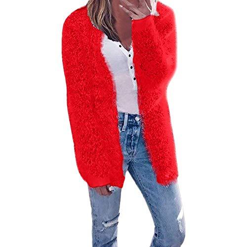 Beige Cn Manches Zhrui Hiver hiver Femme Mode Manteau 12 Rouge Xluk Couleur Automne Long Cardigan Taille Casual pTOnFCTWP