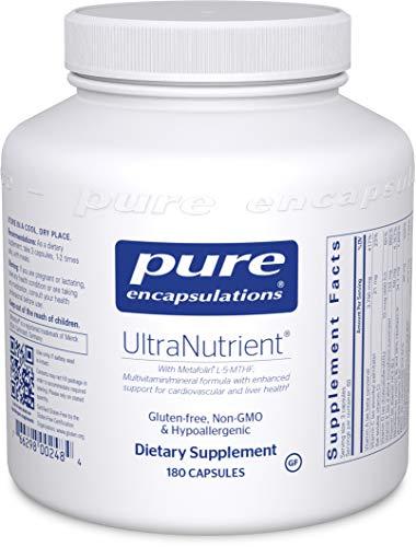 Pure Encapsulations – UltraNutrient – Hypoallergenic Multivitamin/Mineral Complex with Advanced Antioxidants – 180 Capsules