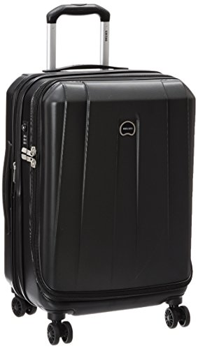 Delsey Luggage Helium Shadow 3.0 21 Inch Carry-On Exp. Spinner Suiter Trolley, Black, One Size