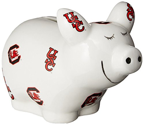 Game Day Outfitters NCAA South Carolina Gamecocks Logo All Over Piggy Bank, One Size, Multicolor