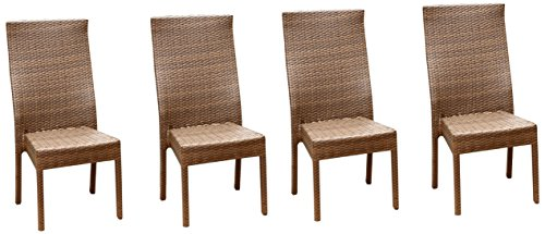 Abbyson® Living Palermo Outdoor Wicker Dining Chair, Brown, Set of 4