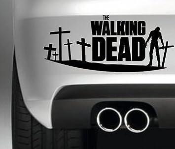 THE WALKING DEAD ZOMBIE CAR BUMPER STICKER FUNNY BUMPER STICKER - Car window stickers amazon uk