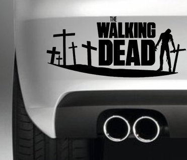 THE WALKING DEAD ZOMBIE CAR BUMPER STICKER FUNNY BUMPER STICKER CAR VAN 4X4 WINDOW PAINTWORK DECAL GRAPHIC South Coast Stickers