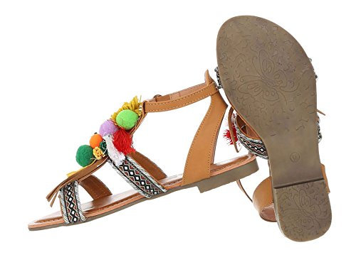 damen hippie sandalen indianer sandalen sommerschuhe flats. Black Bedroom Furniture Sets. Home Design Ideas