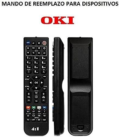 Mando Televisión para TV Oki Modelo 1 - Reemplazo: Amazon.es: Electrónica