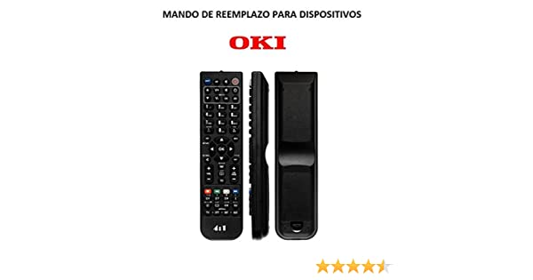 Mando Televisión para TV Oki Modelo 1 - Reemplazo: Amazon.es ...