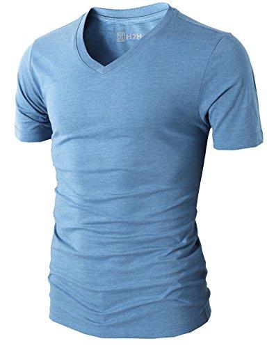 H2H Mens Casual Slim Fit Short Sleeve V-neck