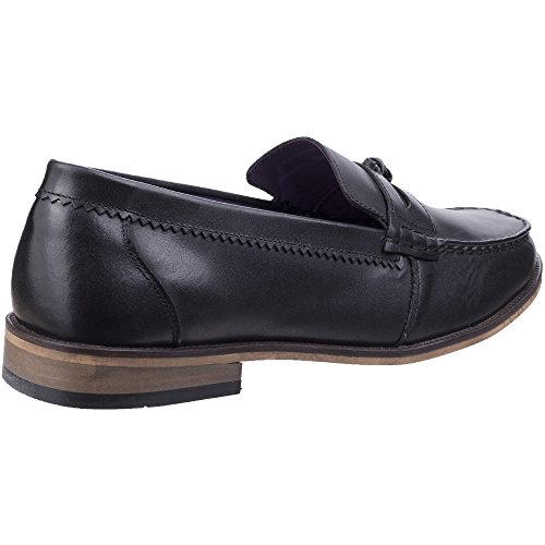 King Shoes Loafer Slip Portobello Mens Durable Black Leather Lambretta On g8wqt