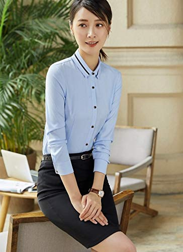 Slim Bluse Abbottonatura Camicetta Lavoro Camicie Lunghe Ysfu Donna A Da Abbigliamento Maniche u1lJ35cFKT