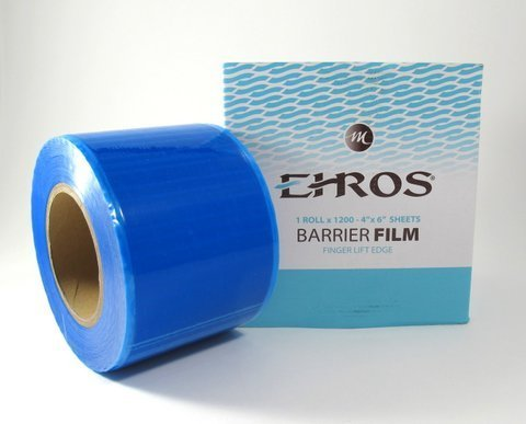 EHROS Barrier Film Roll x 1200 perforated 4x6 BLUE