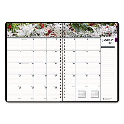 Recycled Gardens of the World Weekly/Monthly Planner, 7 x 10, Black, 2018