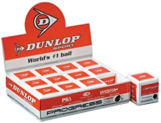 Dunlop Progress Balles de squash–(Une Douzaine) de loisirs 4420321
