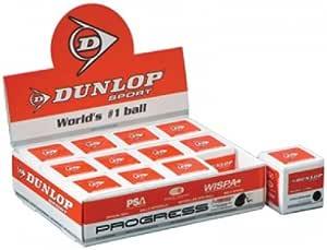 Dunlop Progress–Recreación (de una docena) pelotas de Squash
