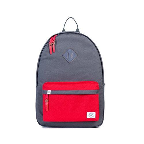 Backpack (Drk Grey/Red) (Linen Everyday Pocket Folder)