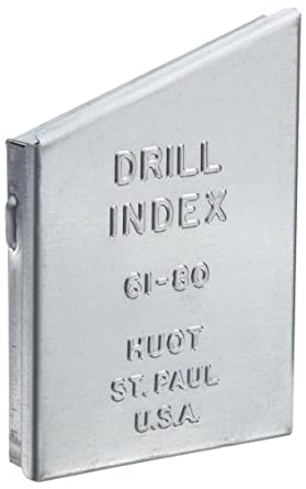 Huot 10400 drill bit index for wire gauge sizes 61 to 80 amazon huot 10400 drill bit index for wire gauge sizes 61 to 80 greentooth Images